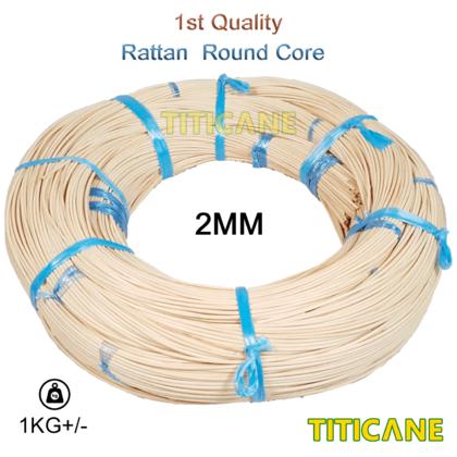 TITICANE Rattan Round Core [ 1KG+/- Per Roll ] [ Rotan Pulur ] [ 1MM to 8MM ]