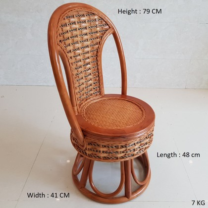 TITICANE Child Rattan Rotate Chair [ Kerusi Rotan Putar ]