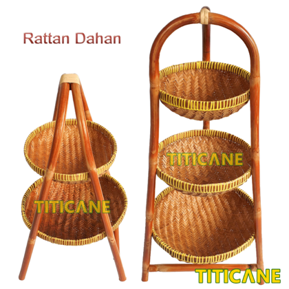 2 Layer Storage Round Rack [ Rak Rotan ] [ Rattan Dahan ]