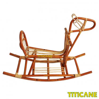 TITICANE Rocking Horse [ Kuda Rotan ] [ Rattan Dahan ]