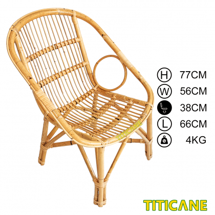 TITICANE Boarding Chair [ Kerusi Rotan ] [ Rattan Mantang ]