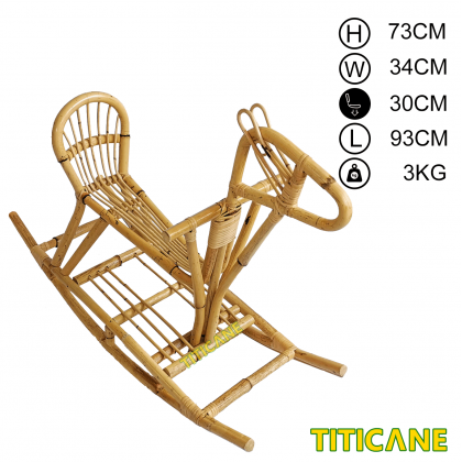 TITICANE Rocking Horse [ Kuda Rotan ] [ Rattan Mantang ]