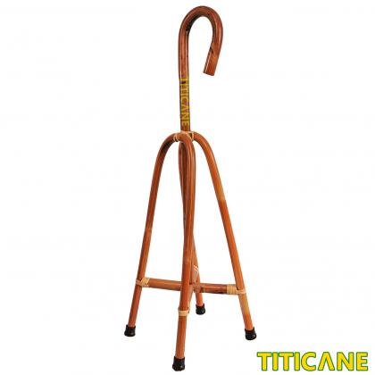 TITICANE 4 Foot Walking Stick [ 32 Inch ] [ Tongkat Rotan ] [ Rattan Dahan ]
