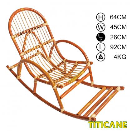 TITICANE Big Children Rocking Chair [ Kerusi Rotan ] [ Rattan Dahan ]