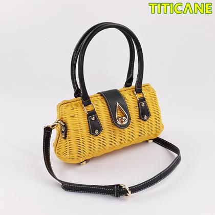 Yellow Lily Handicraft Bag [ Rattan / Rotan ]