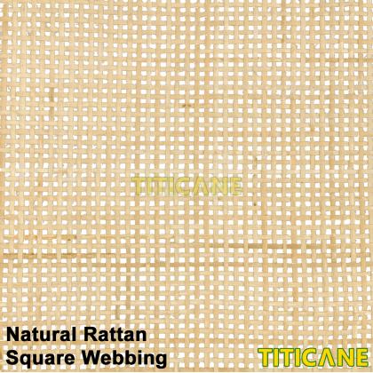 TITICANE Natural Rattan Square Webbing [ 18 Inch ] [ 2 Feet Per Unit ]