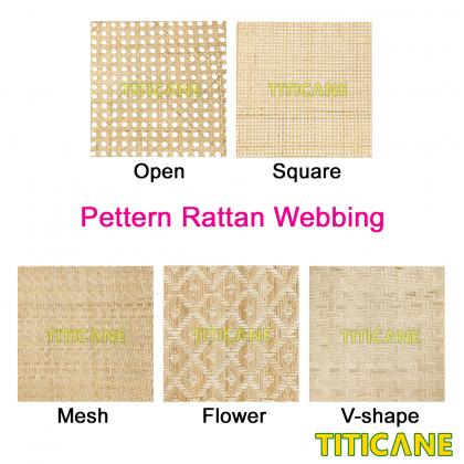 TITICANE Natural Rattan Square Webbing [ 24 Inch ] [ 2 Feet Per Unit ]