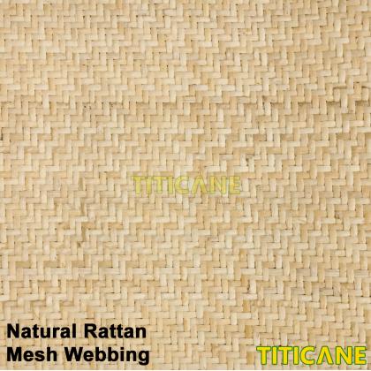 TITICANE Natural Rattan Mesh Webbing [ 72 Inch ] [ 1 Roll ]