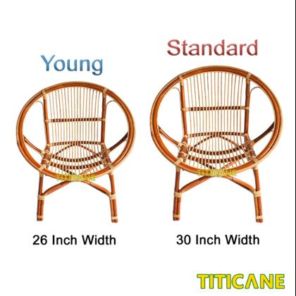 TITICANE Young Round Chair [ Kerusi Rotan ] [ Rattan Dahan ]