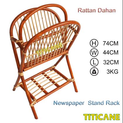TITICANE Newspaper Stand Rack [ Rak Rotan Surat Khabar ] [ Rattan Dahan ]