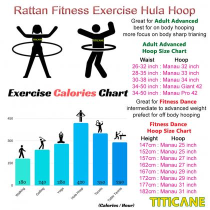 TITICANE Standard Hula Hoop [ Dahan 30 inch ] [ Rattan / Rotan ]