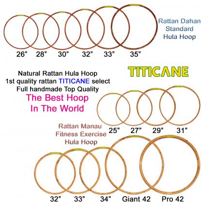 TITICANE Standard Hula Hoop [ Dahan 26 inch ] [ Rattan / Rotan ]
