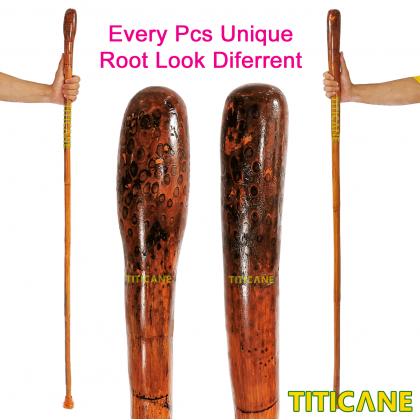 TITICANE Polo Hiking Stick [ 54 Inch ] [ Tongkat Rotan ] [ Rattan Manau Root ]