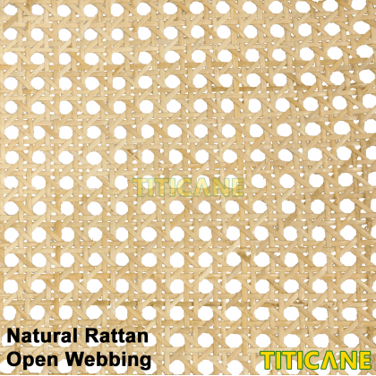 TITICANE Natural Rattan Open Webbing [ 24 Inch ] [ 2 Feet Per Unit ]