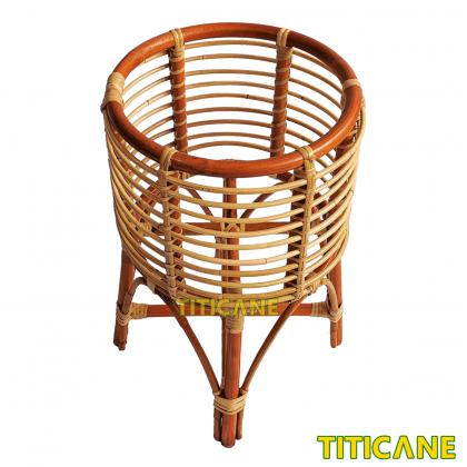 TITICANE TITI Flower Pot Stand Rack [ Rak Pasu Bunga Rotan ] [ Rattan Dahan ]
