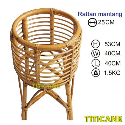 TITICANE TITI Flower Pot Stand Rack [ Rak Pasu Bunga Rotan ] [ Rattan Mantang ]
